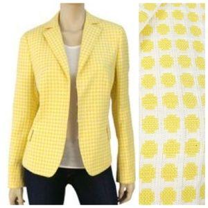 Akris Punto 4 Linen Polka Dot Yellow Blazer Jacket